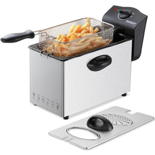 Friteuse électrique en acier inoxydable 3 litres - 2000W - avec zone froide