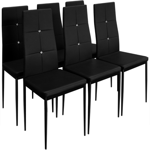 6x Esszimmerstuhl in schwarz