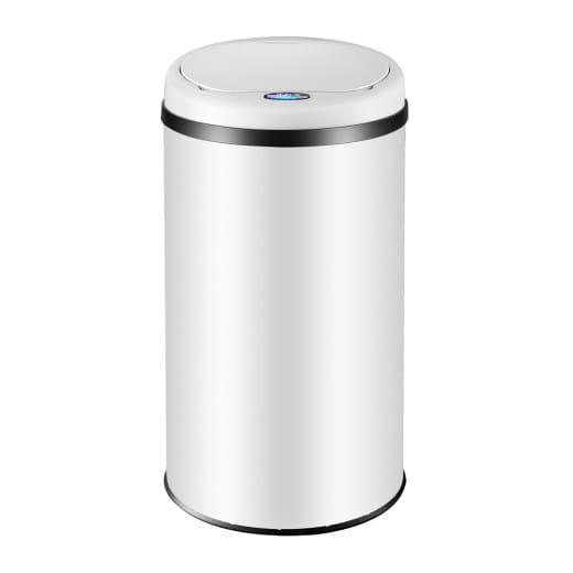 Sensor Mülleimer Edelstahl Weiß 40 Liter