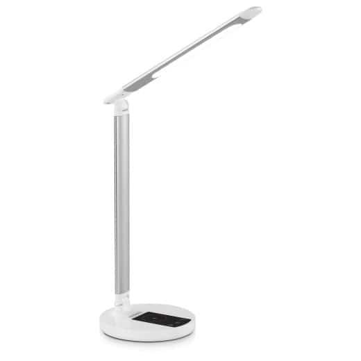 LED Schreibtischlampe Weiß/Silber dimmbar