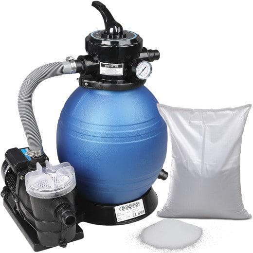 Sandfilteranlagen 9.960 L/h mit Vorfilter/Filterglas