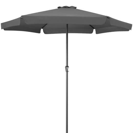 Sonnenschirm Anthrazit Ø330cm mit Kurbel